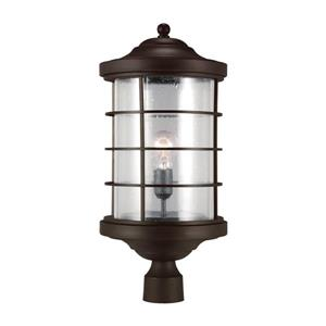 Sea Gull Lighting Sauganash 22.25-in H Antique Bronze Post Light.