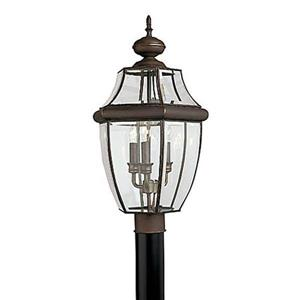 Sea Gull Lighting Lancaster 24-in H Antique Bronze Post Light.