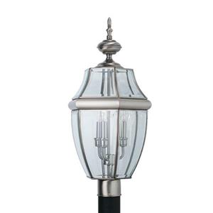 Sea Gull Lighting Lancaster 24-in H Antique Brushed Nickel Post Light.