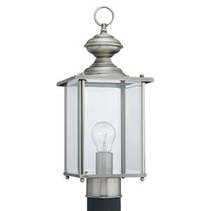 Sea Gull Lighting Jamestowne 17.25-in H Antique Brushed Nickel Post Light.