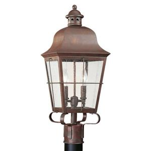 Sea Gull Lighting Chatham 22.34-in H Weathered Copper Post Light