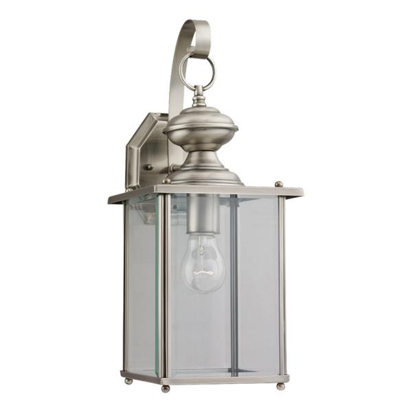 Sea Gull Lighting Jamestowne 17-in H Antique Brushed Nickel Outdoor Wall Light