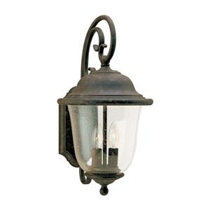 Sea Gull Lighting Trafalgar 18-in H Oxidized Bronze Outdoor Wall Light.