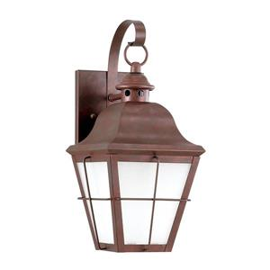Sea Gull Lighting Chatham 14.5-in H Weathered Copper Dark Sky Outdoor Wall Light.