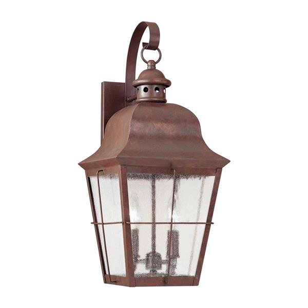 Sea Gull Lighting Chatham 21-in H Weathered Copper Outdoor Wall Light