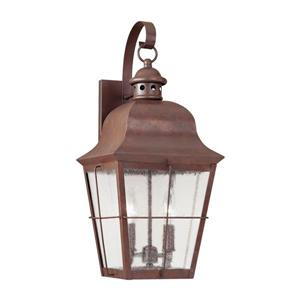 Sea Gull Lighting Chatham 21-in H Weathered Copper Outdoor Wall Light.