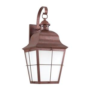 Sea Gull Lighting Chatham 20.75-in H Weathered Copper Dark Sky Outdoor Wall Light.