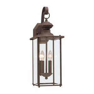 Sea Gull Lighting Jamestowne 20.25-in H Antique Bronze Outdoor Wall Light.