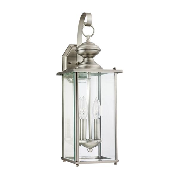 Sea Gull Lighting Jamestowne 20.25-in H Antique Brushed Nickel Outdoor Wall Light