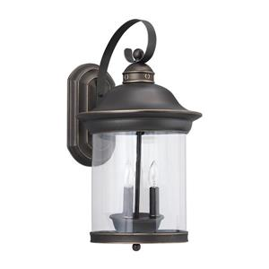 Sea Gull Lighting Hermitage 20.75-in H Antique Bronze Outdoor Wall Light.