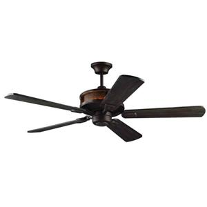 Monte Carlo Fan Company Artizan 56-in Walnut LED Indoor/Outdoor Ceiling Fan and Remote.