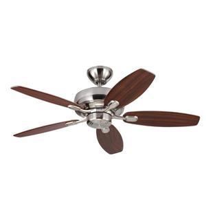 Monte Carlo Fan Company Centro Max II 44-in Brushed Steel Indoor Ceiling Fan