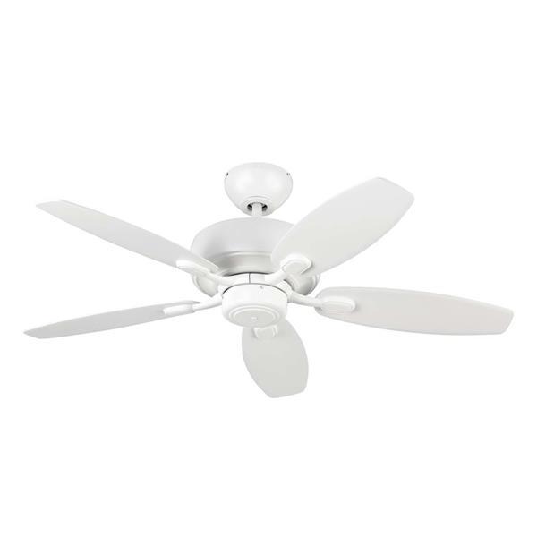 Monte Carlo Fan Company Centro Max II 44-in Rubberized White Indoor Ceiling Fan