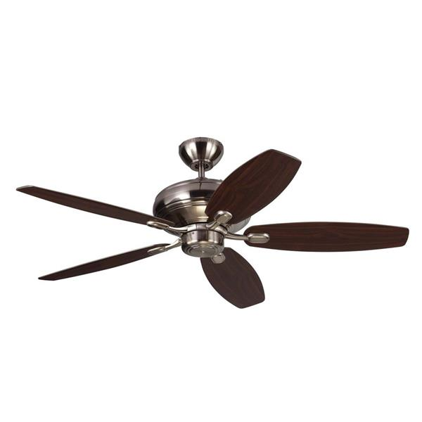 Monte Carlo Fan Company Centro Max 52-in Brushed Steel Indoor Ceiling Fan ENERGY STAR