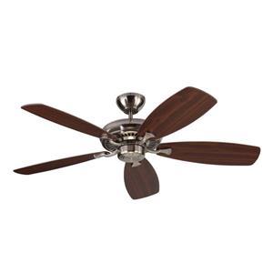 Monte Carlo Fan Company Designer Max 52-in Brushed Steel Indoor Ceiling Fan ENERGY STAR