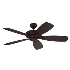 Monte Carlo Fan Company Designer Max 52-in Roman Bronze Indoor Ceiling Fan ENERGY STAR
