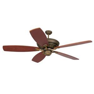 Monte Carlo Fan Company St Ives 15-in Roman Bronze Indoor Ceiling Fan