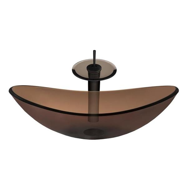 Novatto Oil rubbed Bronze 1-Handle Vessel Bathroom Sink Faucet