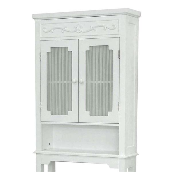 Elegant Home Fashions Lisbon 24-in W x 67-in H x 7.5-in D MDF Etageres