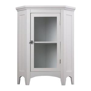Elegant Home Fashions Madison 24.75-in W x 32-in H x 17-in D White MDF Freestanding Linen Cabinet