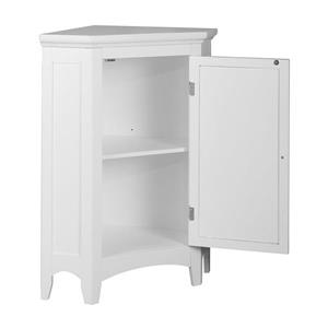 Elegant Home Fashions Slone 24.75-in W x 32-in H x 17-in D White MDF Freestanding Linen Cabinet