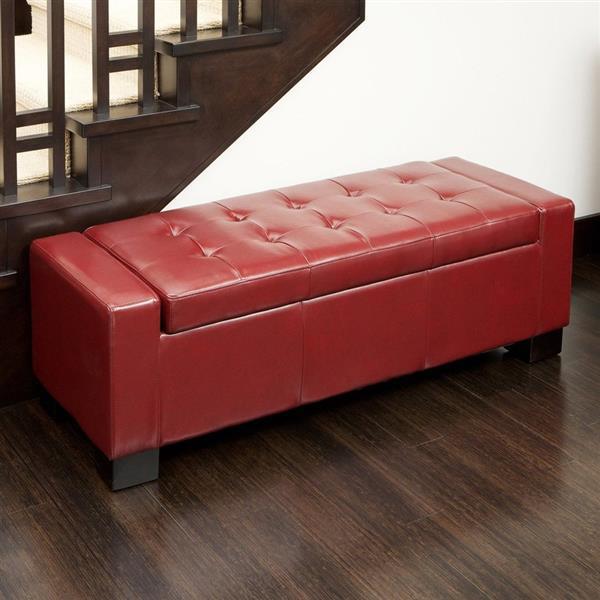 Best Ing Home Decor Guernsey, Storage Bench Red