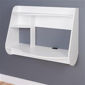 Prepac Contemporary White Floating Desk