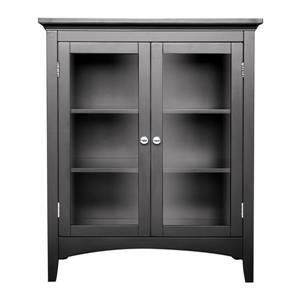 Elegant Home Fashions Madison 26-in W x 32-in H x 13-in D Dark Espresso Composite Freestanding Linen Cabinet