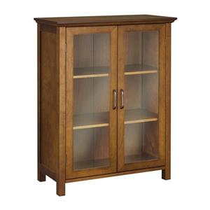 Elegant Home Fashions Avery 26-in W x 34-in H x 12.5-in D Oil oak Composite Freestanding Linen Cabinet