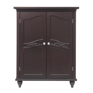 Elegant Home Fashions Versailles 27-in W x 34-in H x 13.75-in D Dark Espresso Composite Freestanding Linen Cabinet