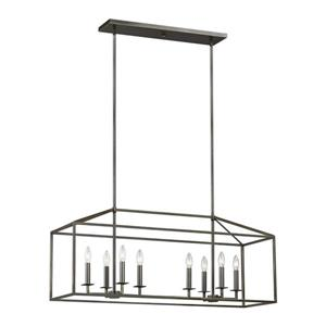 Sea Gull Lighting Perryton 12-in W 8-Light Obsidian Mist Contemporary/Modern Kitchen Island Light with Shade