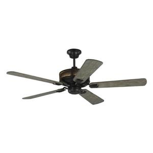 Monte Carlo Fan Company Artizan 56-in Aged Pewter Indoor/Outdoor Ceiling Fan with Light Kit and Remote.