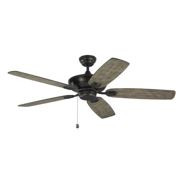 Monte Carlo Fan Company Colony 52-in Aged Pewter Indoor/Outdoor Ceiling Fan