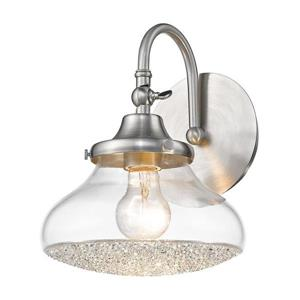 Golden Lighting Asha 1-Light 8-in Pewter Cone Vanity Light