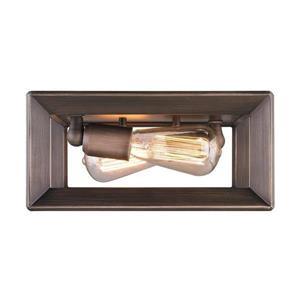 Golden Lighting Smyth 11.5-in W Gunmetal Bronze Modern/contemporary Flush Mount Light