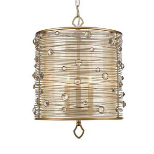 Golden Lighting Joia PG Peruvian Gold Multi-Light Transitional Drum Pendant