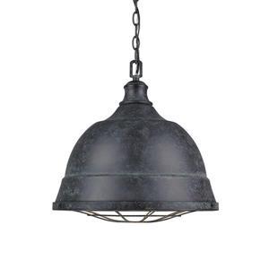 Golden Lighting Bartlett BP Black Patina Multi-Light Transitional Dome Pendant