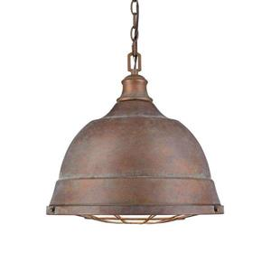 Golden Lighting Bartlett CP Copper Patina Multi-Light Transitional Dome Pendant