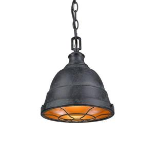 Golden Lighting Bartlett BP Black Patina Mini Transitional Dome Pendant
