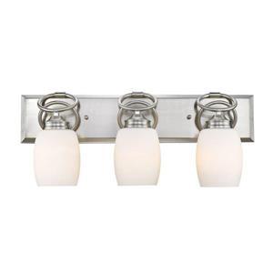 Golden Lighting Cadence 3-Light 23.5-in Pewter Oval Vanity Light