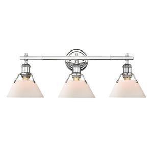 Golden Lighting Orwell CH 3-Light 24.25-in Chrome Cone Vanity Light
