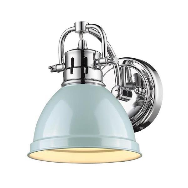 Golden Lighting Duncan PW 1-Light 6.5-in Pewter Dome Vanity Light