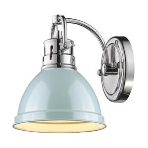 Golden Lighting Duncan PW 1-Light 6.5-in Pewter Dome Vanity Light