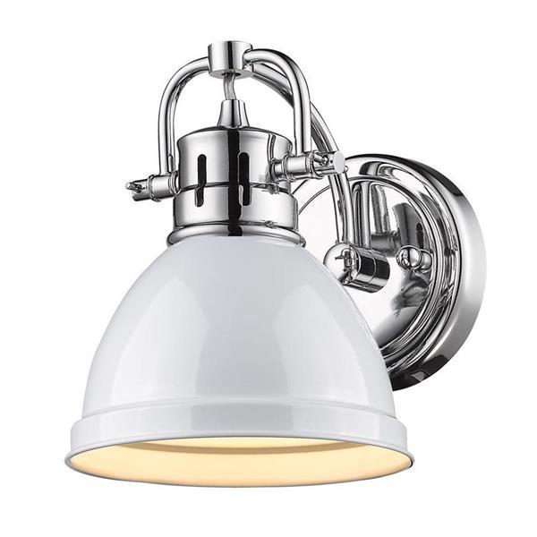 Golden Lighting Duncan CH 1-Light 6.5-in Chrome Dome Vanity Light