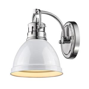 Golden Lighting Duncan CH 1-Light 6.5-in Chrome Dome Vanity Light