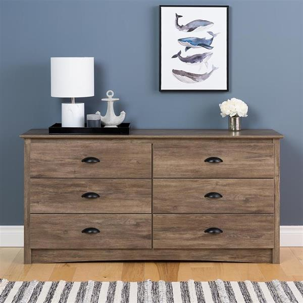 Prepac Salt Spring 6-Drawer Dresser