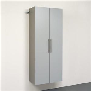 """Armoire de rangement à fixation murale, 30"""", gris pâle"""