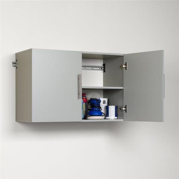 Prepac HangUps 36-in W x 24-in H x 16-in D Wood Composite Garage Cabinet