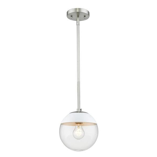 Golden Lighting Pewter Mini Transitional Clear Glass Globe Pendant