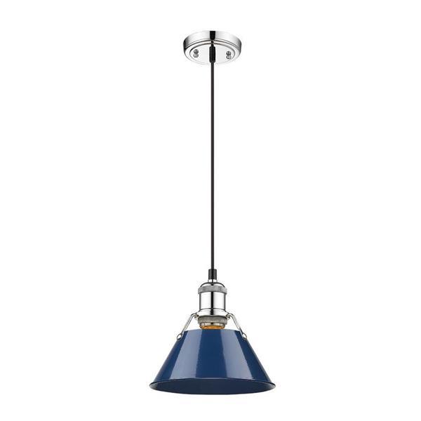 """Petite suspension à 1 lumière Orwell, 7"""", bleu marine"""